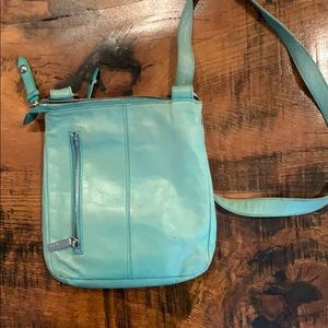 Hobo Crossbody in Turquoise with multiple pockets